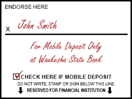 How to endorse your check for mobile check deposit